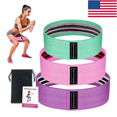 Hip Resistance Bands Loop CrossFit Exercise Fitness Yoga Gym Booty Leg Band