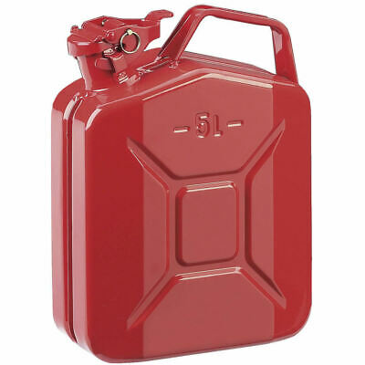 5L Red Metal Jerry Can Fuel Petrol Diesel Oil Containers Canister Army 4x4