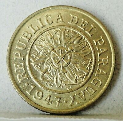1947 Paraguay 5 Centimos, Mint State Uncirculated