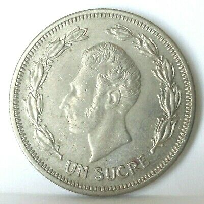 1959 Ecuador  1 Sucre  Mint State Uncirculated