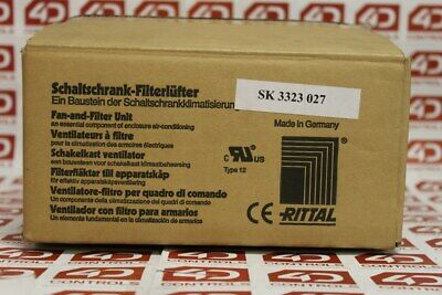 SK 3323.027 | Rittal | Filter Fan 24VDC with Filter Mat - New Surplus Open