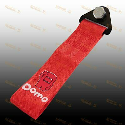 JDM DOMO KUN Racing Drift Rally Car Tow Towing Strap Belt Hook Universal Red New