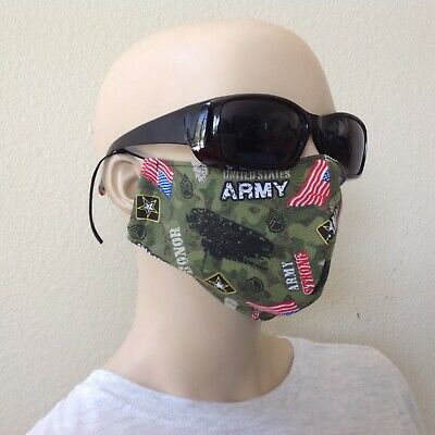Face protection mask washable/reusable,USA army ,navy ,military,marines print