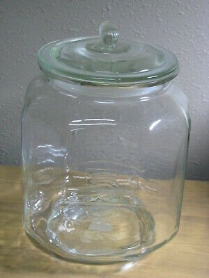 PEANUTS Clear Glass Large Octagonal Jar