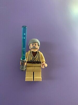 "STAR WARS LEGO MINIFIGURE  MINI FIG  /"" OBI WAN KENOBI--7255--WITH HEAD SET  /"""