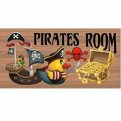 Childs Room Wood Signs -Pirates Room GS 1836  Primitive Wood Sign