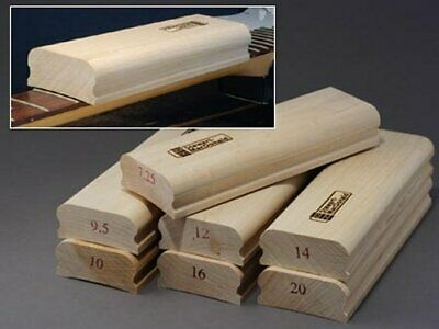 "Guitar fingerboard sanding blocks, various radiuses, 8"" and 4"" long"