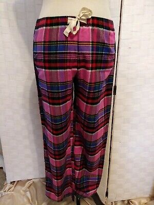 Love By GAP Pink Plaid Womens Lounge Pajama Pants Sz XS NWOT