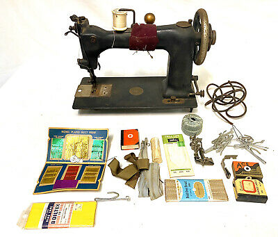 Early American Industrial Antique 1890s Wheeler & Wilson Sewing Machine WORKS