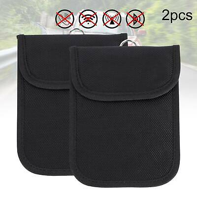 2Pcs Car Key Signal Blocker Case Faraday Cage Pouch Keyless RFID Blocking Bag