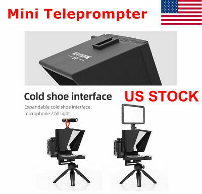Mini Teleprompter Portable Inscriber Mobile Artifact Video Remote for Phone NEW