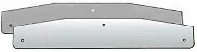 """Stainless Steel 24"""" Bottom Weight Mud Flaps with Back Plate (2 per Set)"""