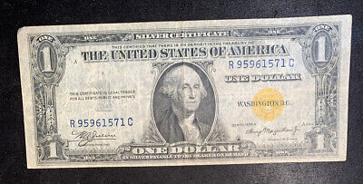 1935-A North Africa Yellow Seal $1 Silver Certificate #3