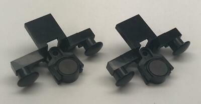 4022//2920//73092 4x LEGO Black Train Buffer Beam Couple Magnet RC 9V #4022c02