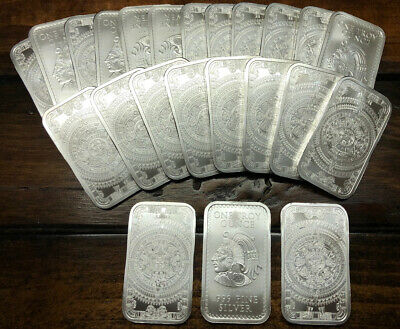 1 Oz .999 FINE SILVER BAR Aztec Calendar MINT!! -SHIPS NEXT DAY IN CAPSULE!-