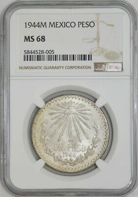 1944M Mexico Peso MS68 NGC 942947-32