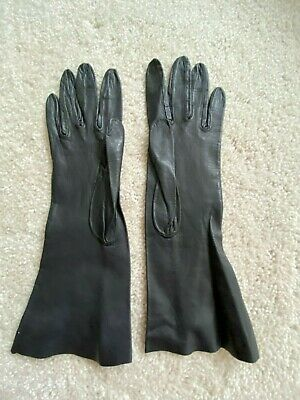 Women Lady's soft genuine leather gloves.Size XS. Pre-owned. Excellent condition