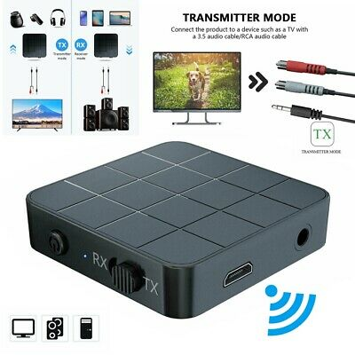 2in1 Wireless 5.0 Audio Transmitter Receiver Music/Adapter AUX RCA Speaker PC UK
