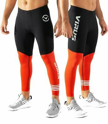 Gym Virus Homme RX7-V3 Stay Cool Tech Compression Pantalon Bay Bleu Course Crossfit