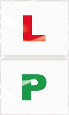 2 x FULLY MAGNETIC L / P PLATES SECURE Quick Easy To Fix Learner Sign