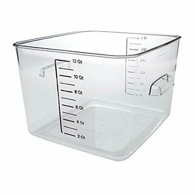 Rubbermaid Space Saving Square Food Storage Container 12-Qt Freezer to Sous Vide