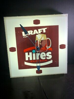 Vintage Hires Draft Rootbeer Advertising Clock