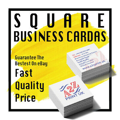 50 SQUARE Business Cards Personalised Printed Business Cards