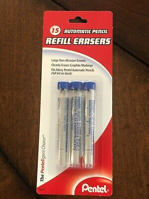 Pentel Automatic Pencil Large Refill Erasers PDE-1 Non-Abrasive 3 Tubes