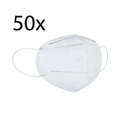 One Size KN95 Face Mask, Protective Mask Against Dust, Bacteria, Pack of 50