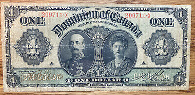 """1911 The Dominion Of Canada """"Lord And Lady Grey"""" $1  (2)"""