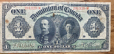 """1911 The Dominion Of Canada """"Lord And Lady Grey"""" $1  (3)"""