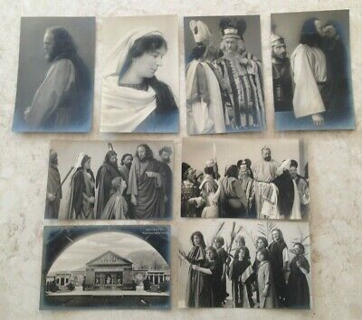 1910 Lot of 8 Photo Postcards Oberammergau Passion Play Jesus Christ Germany