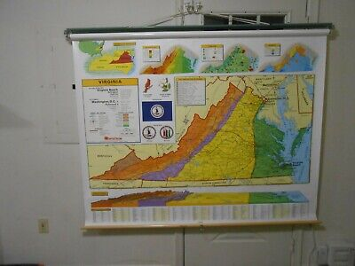 Nystrom School  Pull Down Map 1Ps45 Virginia