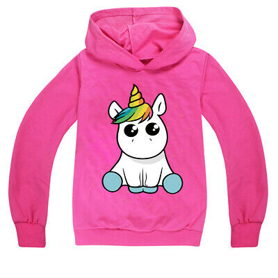 2020 Unicorn Kids Girls Best Gifts Sweater Long Sleeve Children Hoodie Fat H912