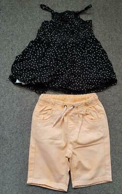 Lovely 2 Piece Outfit,  Strappy Sun Top And Shorts Set, 2-3 Yrs