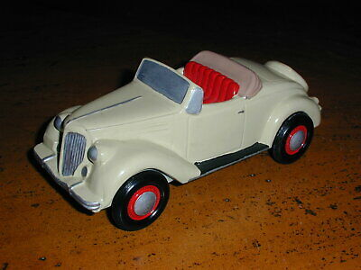 Vintage Banthrico Metal Coin Bank - 1936 Ford Convertible - Painted And Detailed
