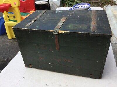 Antique Railway Express Wooden Shipping Crate Box John T Connor Boston Old Paint