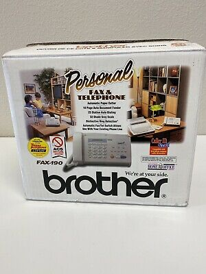 BROTHER Personal FAX-190 Fax Machine/Copier/Telephone