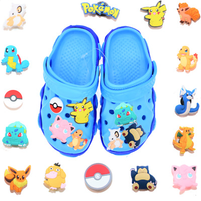 15 pcs Pokemon Shoe Charms for Croc & Bracelet & shoes Wristband Kids Party