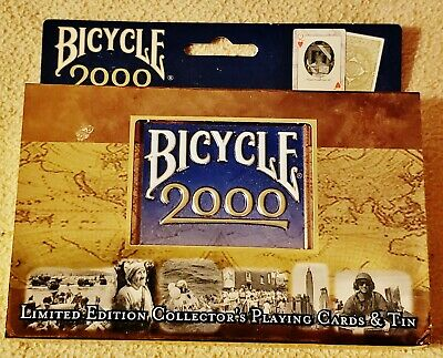 United States Playing Card Company Bicycle 2000 Millenium Tin ~ Two Decks of Playing Cards /& Collectible Tin Limited Edition