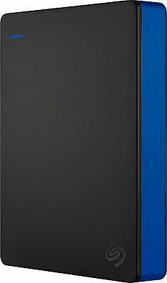 Seagate - Game Drive for PS4 4TB External USB 3.0 Portable Hard Drive - Black