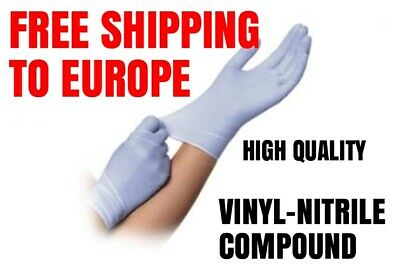 Vinyl-Nitrile compound high quality gloves Blue/Purple LARGE size FREE SHIPPING