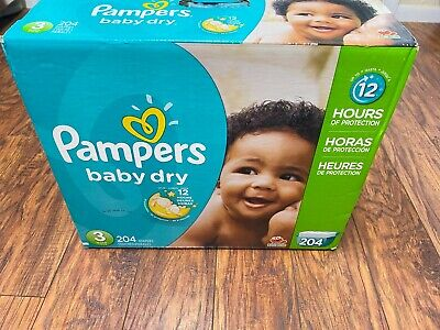 Pampers Baby Dry Diapers - Size 3 - 204 Count