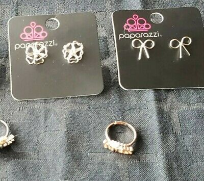 Paparazzi Starlight Shimmer Children's Earrings & Rings Set of 4