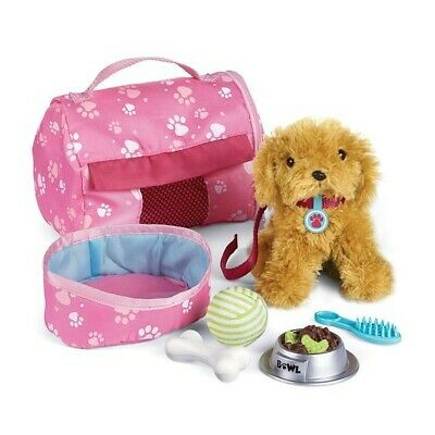 NEW: Newberry Puppy Pouch Set for 18 inch dolls like Newberry, America doll, etc