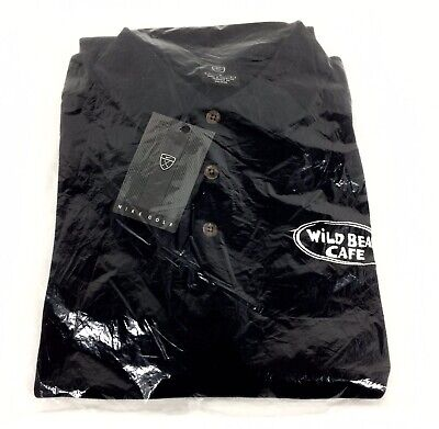 Nike Golf WILD BEAN CAFE Coffee Men L Black Short Sleeve Polo Shirt Employee NIP