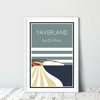 COWES travel poster GURNARD Stripe A3 graphic design Isle of Wight Print