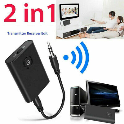2 in1 Wireless 5.0 Transmitter &Receiver A2DP 3.5mm Audio Jack Adapter Receiver