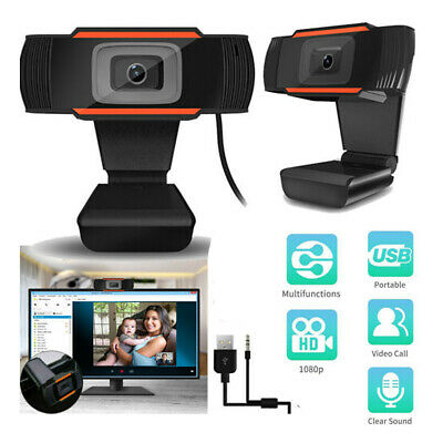 USB 2.0 Webcam Stand Camera 1080P HD Camera Microphone for Desktop Laptop PC