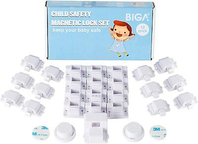 Child Safety Magnetic Locks with Proofing Latches for Cabinet Drawer Cupboard